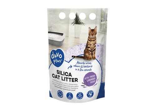 Duvo+ Premium silica kattenbakvulling lavendel 5L