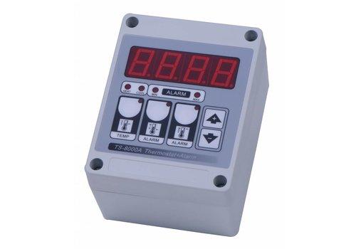 JUNAI Digitale thermostaat met alarm - spat waterdicht