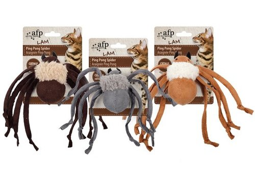 All For Paws Catnip Ping Pong Spider