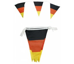 Vlaggenlijnen in de nationale kleuren zwart, rood en geel
