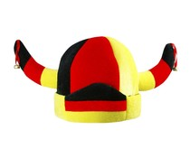 German Viking hat in the national colors of black, red and yellow