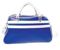 Grote sporttassen in de kleur blauw met witte accenten (afmeting 52 x 32 x 21 cm)