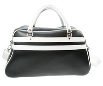 Große Sporttasche in schwarz mit weißen Akzenten (Größe 52 x 32 x 21 cm)