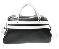 Grote sporttassen in de kleur zwart met witte accenten (afmeting 52 x 32 x 21 cm)