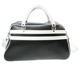 Large sports bags in the color black with white accents buy?