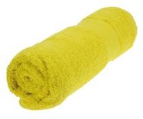 Handdoeken in de kleur geel/knalgeel (50 x 100 cm)