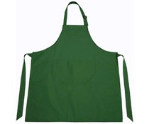 Professional kitchen aprons in the color dark green (adjustable neck and storage compartment)