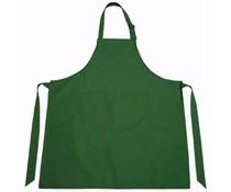Professionele keukenschorten in de kleur donkergroen (verstelbare hals en opbergvakje)