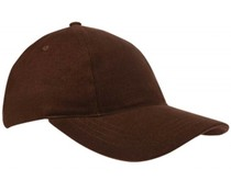 Brown Baseball Caps for children (available in 20 colors)