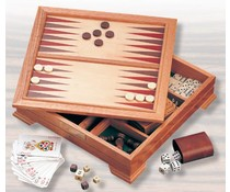 8-in-1 wooden game set