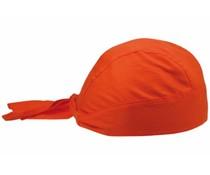 Bandanacaps leverbaar in de kleur oranje