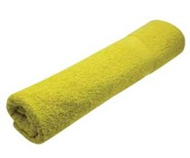 Fitness towels in yellow