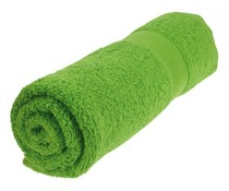 Towels in the color light green / green grass (50 x 100 cm)