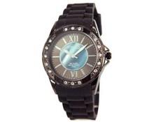 Attractief dames horloge met strass steentjes