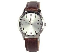 Klassiek heren horloge met lederen horlogeband