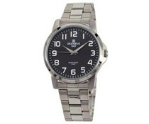 Classic men's watch with stainless steel bracelet