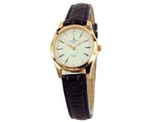 Classic ladies watch with leather wristlet