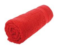 Handdoeken in de kleur rood/felrood (50 x 100 cm)