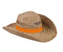 Mooie kwaliteit Strohoeden leverbaar in de kleur oranje