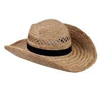 Όμορφη ψάθινα καπέλα διαθέσιμα σε μαύρο χρώμα