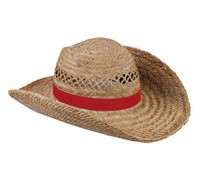 Nice quality Straw Hats available in the color red