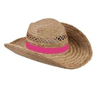 Nice quality Straw Hats available in the color pink