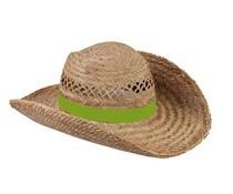 Όμορφη ψάθινα καπέλα διατίθεται σε χρώμα πράσινο φως