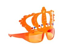 Oranje Koningsbrillen met Kroon kopen?