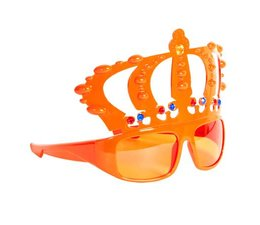 Here can you buy orange King Glasses with Crown!