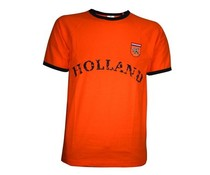 Oranje HOLLAND retro T-shirts in volwassen maten en kindermaten