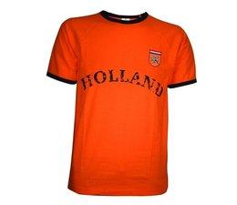 Oranje HOLLAND retro T-shirts in volwassen maten en kindermaten