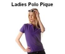 100% katoenen Poloshirts (polo pique) voor dames