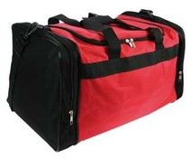 Sports Bags! Cheap red with black sports bags for multifunctional purposes!