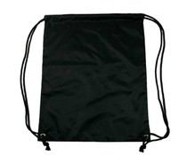 Nylon promo bags in black (size 34 x 42 cm)