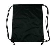 Nylon promo bags in de kleur zwart (afmeting 34 x 42 cm)