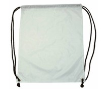 Nylon promo bags in white color (size 34 x 42 cm)