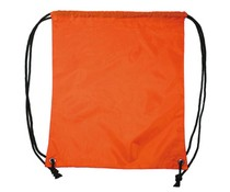 Nylon promo bags in orange (size 34 x 42 cm)
