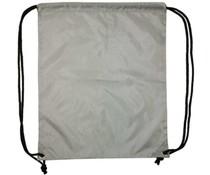 Nylon promo bags in de kleur grijs (afmeting 34 x 42 cm)