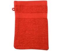 Badstof washandjes in de kleur rood