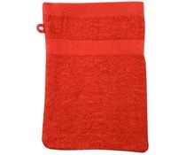 Terry washcloths in red