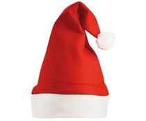 Rode Kerstmutsen met witte rand (1 volwassen maat)