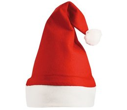 Red Christmas hats with white border in an adult size order?