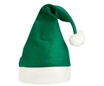 Grüne Weihnachten Hüte mit weißem Rand (1 erwachsene Größe)