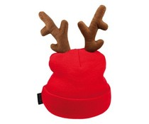 Red reindeer with antlers Caps (1 uni adult size)