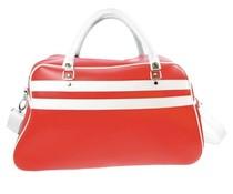 Grote sporttassen in de kleur rood met witte accenten (afmeting 52 x 32 x 21 cm)