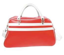 Large sports bags buy in red with white accents?