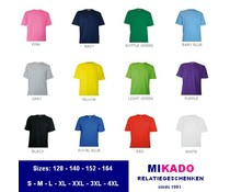 100% cotton T-shirts (available in sizes S / 4XL)