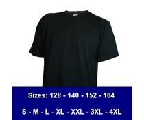 100% katoenen T-shirts (leverbaar in 13 kleuren)