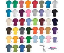 Kwaliteit T-shirts leverbaar in 44 verschillende kleuren (leverbaar in volwassen maten S t/m XXL)