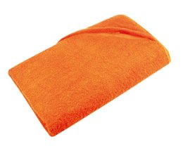 Goedkope oranje badstof Strandlakens (afmeting 100 x 180 cm) incl. borduring of bedrukking kopen?